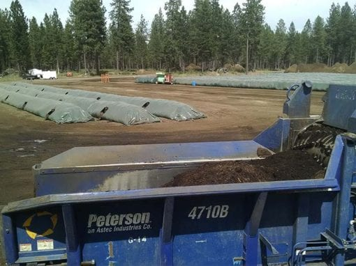 Grinding Wood Waste for use in Composting Biosolids – Sunriver, OR
